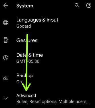Advanced settings to fix WiFi problem in Google Pixel 5