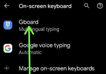 Gboard keyboard settings to change default keyboard language Android 11