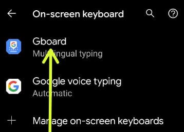 Gboard keyboard settings to turn off predictive text on Pixel 5