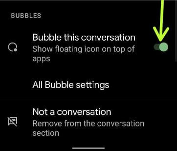 How to Add Bubble for Conversation on Android 11