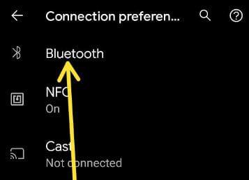 Pixel 5 Bluetooth settings