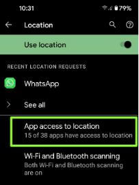 App access location change to save battery in Pixel 5