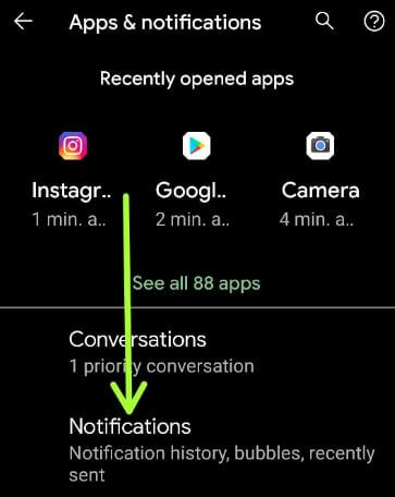 Change notifications settings in your Android 11