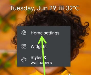 Home settings to enable home screen rotation stock Android 11