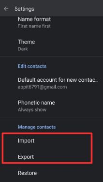 How to Import and export Contacts into Pixel 5