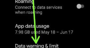 How to Limit Data Usage on Android 11