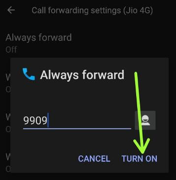 Enable call forwarding on Android 11