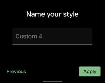 Name style on stock Android 11