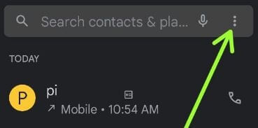 Open the phone app to forward calls on Android 11